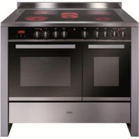 GRADE A2 - CDA RV1061SS 100cm Wide Double Oven Electric Range Cooker With Ceramic Hob - Stainless Steel