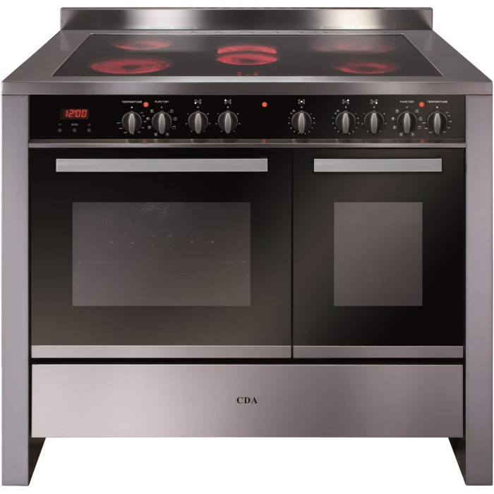 Cda Rv1061ss 100cm Wide Double Oven Electric Range Cooker