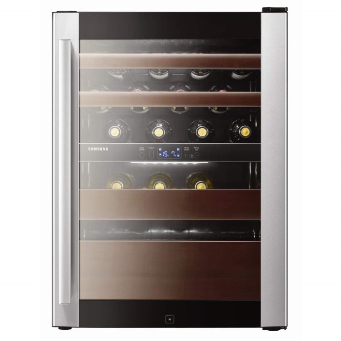 Samsung Rw52dass1 Dual Zone Freestanding Wine Cooler In Black And