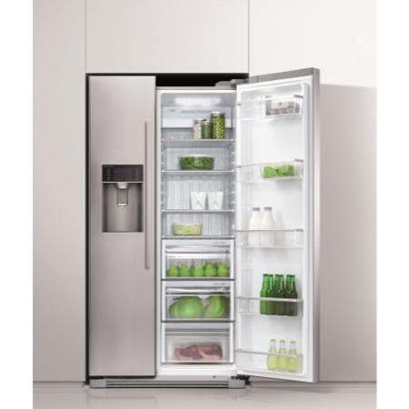 Fisher & Paykel RX611DUX1 24448 Side-by-side American Fridge Freezer With Ice & Water Stainless St