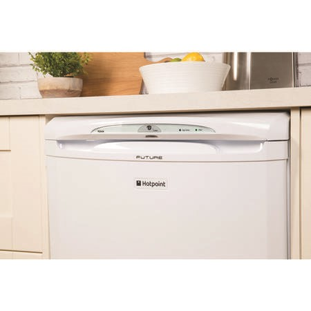 Hotpoint RZA36P 60cm Wide Freestanding Upright Under Counter Freezer - White