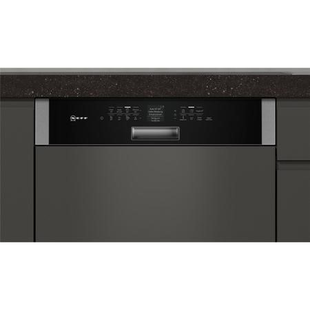 Neff S416T80S0G 14 Place Semi Integrated Dishwasher - Black Control Panel