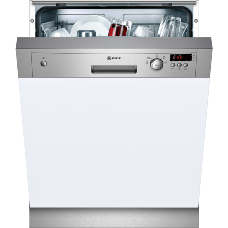 NEFF S41E50N1GB 12 Place Semi Integrated Dishwasher - Stainless Steel Control Panel