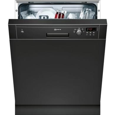 Neff S41E50S1GB 12 Place Semi Integrated Dishwasher - Black Control Panel