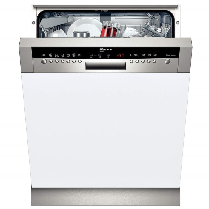 Neff S41m63n1gb 13 Place Semi Integrated Dishwasher With Stainless