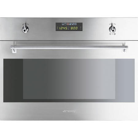 Smeg S45mx2 60cm Classic Built In Compact Microwave Oven