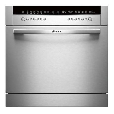 Neff S66M64M1EU 8 Place Semi Integrated Compact Dishwasher - Stainless Steel Door