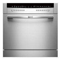 Neff S66M64M1EU 8 Place Semi Integrated Compact Dishwasher - Stainless Steel Door Best Price, Cheapest Prices