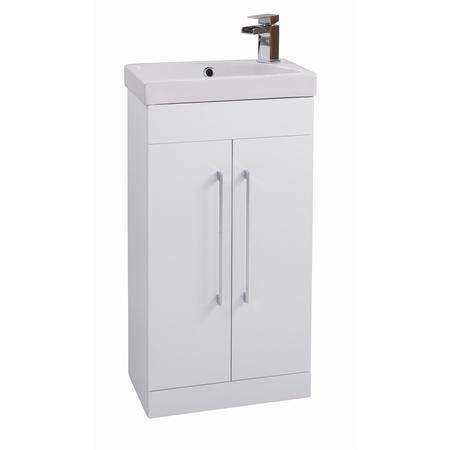 Sail Ivory Mini Cloakroom Vanity Basin Unit - Includes Basin - 460mm