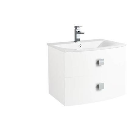 White Wall Hung Bathroom Vanity Unit & Basin - W712 x H430mm