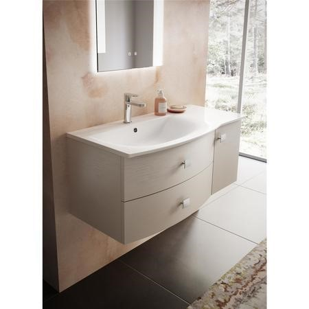 Cashmere Wall Hung Bathroom Vanity Unit & Basin Left Handed - W1012 x H428mm