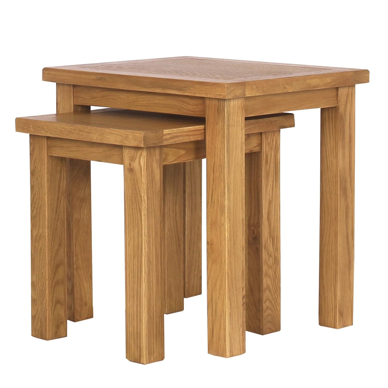 SOLID OAK Nest Of Tables 9197 PicClick UK