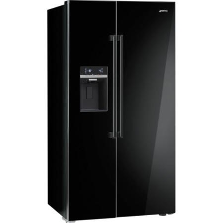 Smeg SBS63NED Side-by-side Fridge Freezer Black