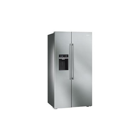Smeg SBS63XED Silver Side-by-side Fridge Freezer With Stainless Steel Doors