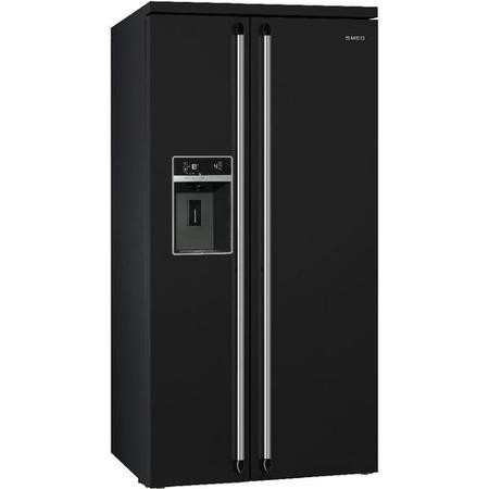 Smeg SBS963N 91cm Victoria Black Freestanding Side by Side Fridge Freezer