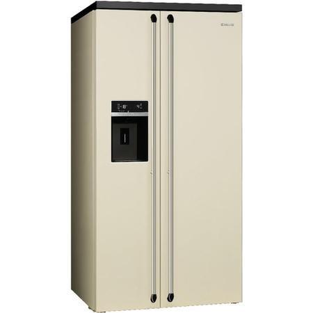 smeg sbs963p 91cm victoria cream freestanding side by side fridge freezer appliances direct. Black Bedroom Furniture Sets. Home Design Ideas