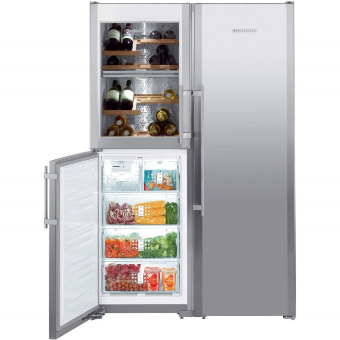liebherr sbses7165 biofresh nofrost american side by side fridge freezer stainless steel. Black Bedroom Furniture Sets. Home Design Ideas