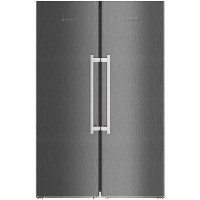 Liebherr SBSbs8673 BioFresh NoFrost Side-by-side American Fridge Freezer With Plumbed IceMaker - BlackSteel Best Price, Cheapest Prices