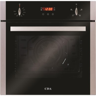 GRADE A2 - Light cosmetic damage - CDA SC222SS Four Function Electric Built-in Single Fan Oven With Touch Control Timer - Stainless Steel