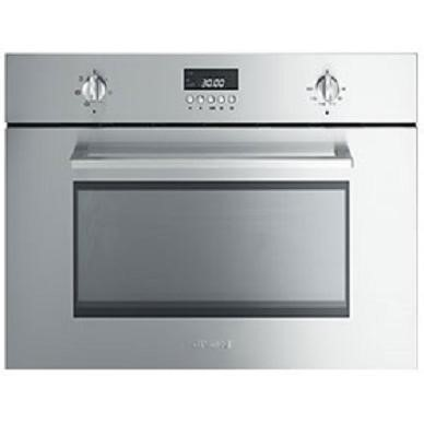 GRADE A2 - Smeg SC445MCX1 Cucina 45cm High Combination Microwave Oven - Stainless Steel