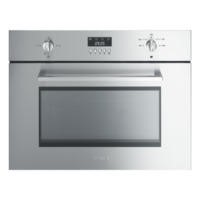 Smeg SC445MX Cucina 45cm High Microwave Oven With Grill Stainless Steel