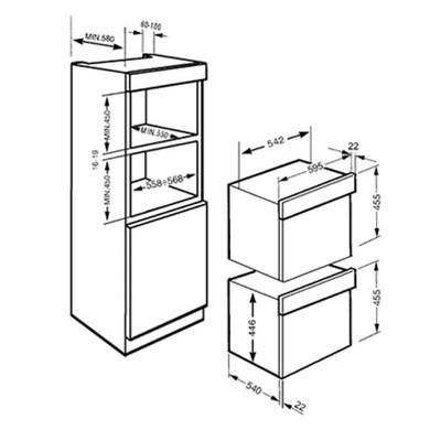 Smeg SC45MCB2 Linea Compact Combination Microwave Oven