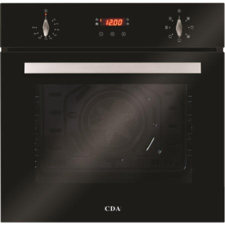 CDA SC612BL Seven Function Electric Built-in Single Fan Oven With Touch Control Timer - Black
