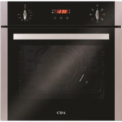 CDA APD/SC612SS SC612SS Seven Function Electric Built-in Single Fan Oven With Touch Control Timer - Stainless Steel