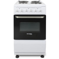 Montpellier SCE50W 50cm Electric Cooker With Single Oven And Solid Hotplate - White Best Price, Cheapest Prices