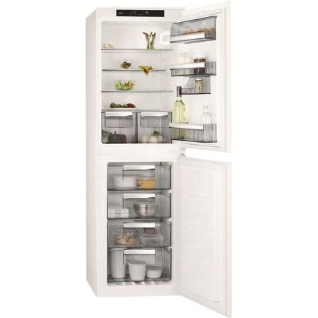 AEG SCE8181VNS 50-50 Integrated No Frost Fridge Freezer - Sliding Rail