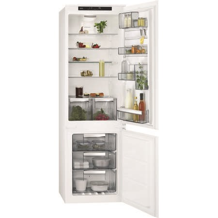 AEG SCE8182VTS 70-30 Custom Flex No Frost Integrated Fridge Freezer - Sliding Rail