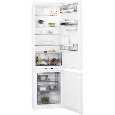 AEG SCE81911TS 54cm Wide Frost Free 70-30 Integrated Upright Fridge Freezer - White