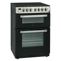 Servis SCF60X 60cm Double Oven Electric Cooker With Ceramic Hob - Stainless Steel Best Price, Cheapest Prices