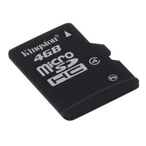 Kingston 4GB MicroSD HC Memory Card