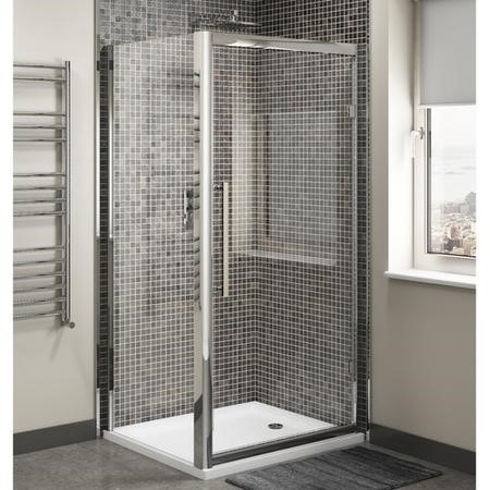 Claritas 8mm Glass Sliding Shower Door - 1100 x 1950mm