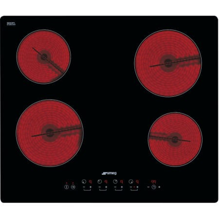 Smeg SE2640TD2 Cucina 60cm Touch Control Ceramic Hob with Straight Edge Glass