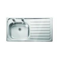 Leisure Sinks SE9501NCLF Seattle Stainless Steel 950x508 1.0 Bowl 2 Tapholes  Linen Finish