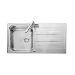 Leisure Sinks SE9501POL Seattle Stainless Steel 950x508 1.0 Bowl 2 Tapholes Reversible Polished