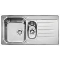 Leisure Sinks SE9502NCLF Seattle Stainless Steel 950x508 1.5 Bowl 2 Tapholes  Linen Finish