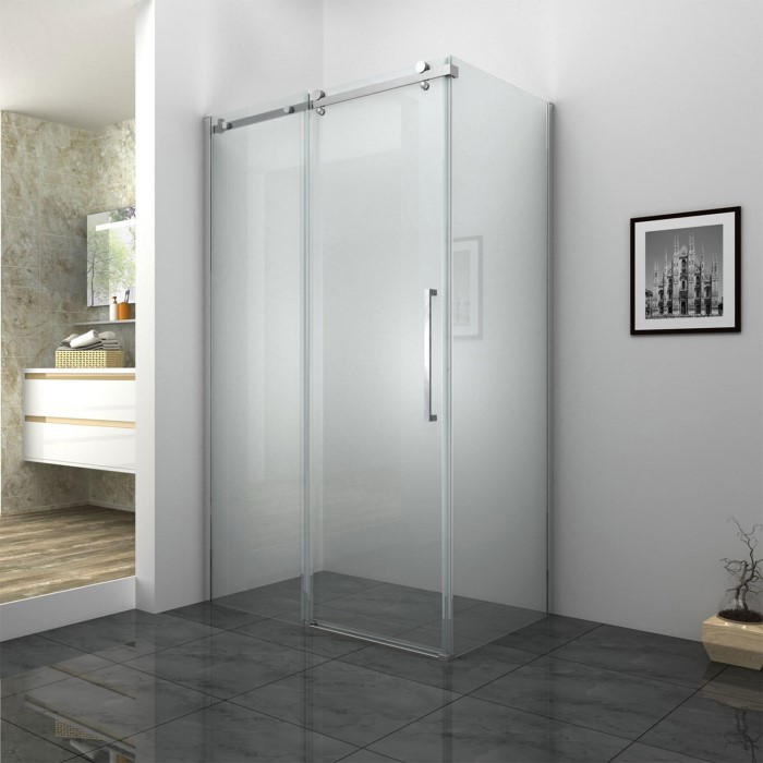 1200 Frameless Sliding Shower Door 8mm Easy Clean Glass