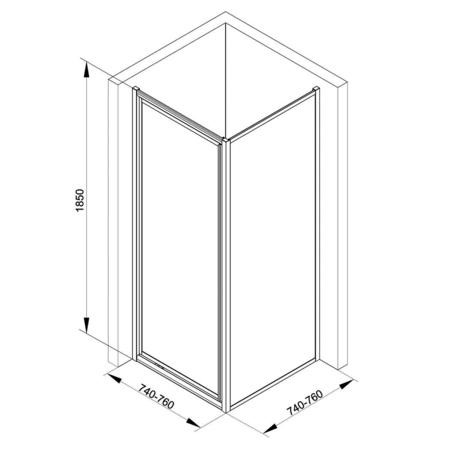 Taylor & Moore Pivot Door Shower Enclosure - 760 x 760mm