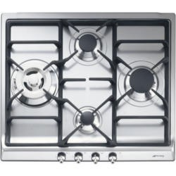Smeg SER60S3 Classic 60cm Four Burner Gas Hob - Stainless Steel