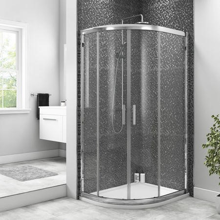 800 x 1000 Offset Quadrant Sliding Shower Enclosure - 6mm Easy Clean Glass - Taylor & Moore