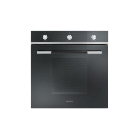 Smeg SF102GVN Linea Gas Fan Oven With Electric Grill Black