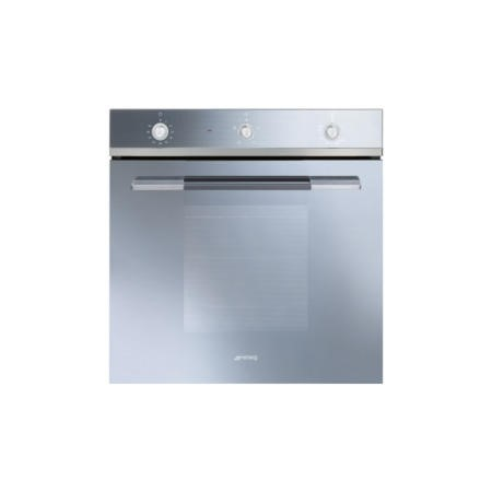 Smeg SF102GVS Linea Gas Fan Oven With Electric Grill Silver