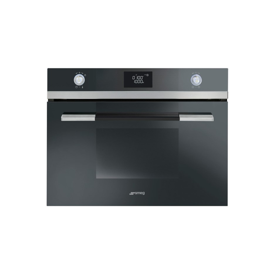 Smeg Sf4120mn Linea Compact Height Built In Microwave With