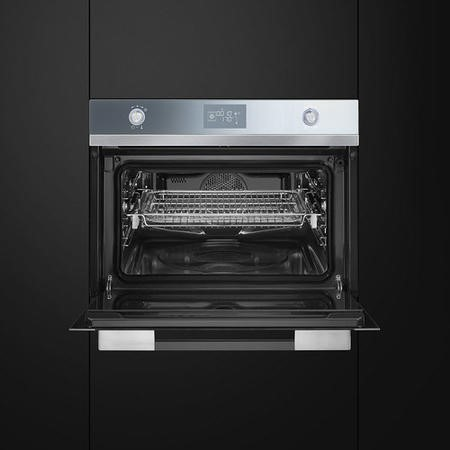 Smeg SF4120VC Linea Compact Combination Steam Oven Stainless Steel