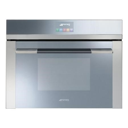 Smeg SF4140MC SF4120MC Linea 45cm Height Compact Combination Multifunction Microwave Oven Stainless Steel