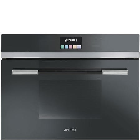 Smeg SF4140VCN Linea Touch Control 45cm Height Compact Combination Steam Oven Black