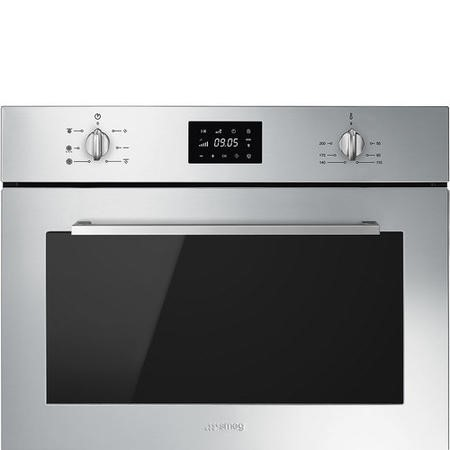 Smeg SF4400MCX Cucina 45cm Height Compact Combination Microwave Oven - Stainless Steel